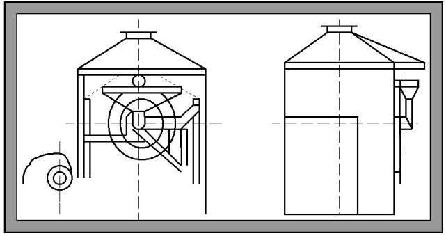 Установка обжарочно-охладительная Ш24-ШОЖ/ІІ