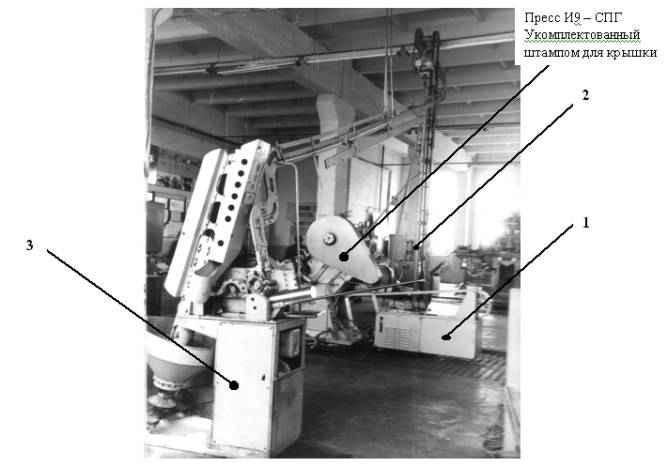 Комплект оборудования к линии по изготовлению крышек 1-58, 1-82